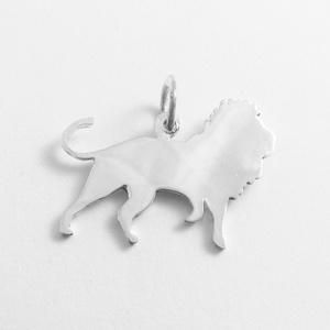 Ezüst oroszlán medál - Minicsiga állatkertje, Ékszer, Medál, Nyaklánc, Egy új, a Minicsiga állatkertje kollekcióm egyik darabja ez a medál. Felnőtteknek, gyerekeknek egyar..., Meska