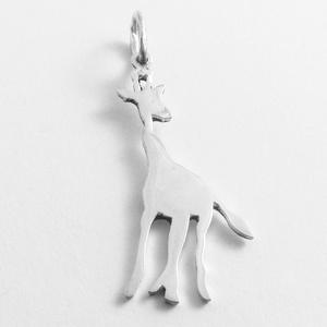 Ezüst zsiráf medál - Minicsiga állatkertje, Ékszer, Medál, Nyaklánc, Egy új, a Minicsiga állatkertje kollekcióm egyik darabja ez a medál. Felnőtteknek, gyerekeknek egyar..., Meska