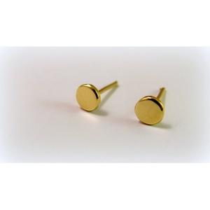 Arany kör alakú fülbevaló / baba fülbevaló, Pötty fülbevaló, Fülbevaló, Ékszer, Ékszerkészítés, Ötvös, Arany lemezből fűrészeltem ki a mintát\n14K-os arany, kérhető még fehér vagy rosé aranyból\n\nHa baba f..., Meska