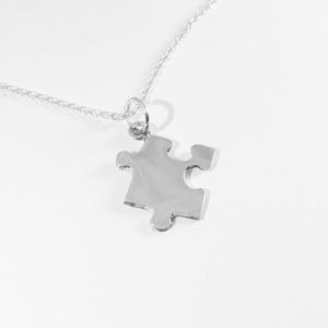 Puzzle, kirakó medál, nyaklánc I., Medálos nyaklánc, Nyaklánc, Ékszer, Ékszerkészítés, Ötvös, Nagyon szeretek kirakózni, így készítettem pár puzzle ékszert 925-ös ezüstből. \nA boltomban megtalál..., Meska