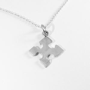 Puzzle, kirakó medál, nyaklánc II., Ékszer, Medál, Nyaklánc, Ékszerkészítés, Ötvös, Nagyon szeretek kirakózni, így készítettem pár puzzle ékszert 925-ös ezüstből. \nA boltomban megtalál..., Meska