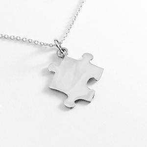 Puzzle, kirakó medál, nyaklánc IV., Ékszer, Medál, Nyaklánc, Ékszerkészítés, Ötvös, Nagyon szeretek kirakózni, így készítettem pár puzzle ékszert 925-ös ezüstből. \nA boltomban megtalál..., Meska