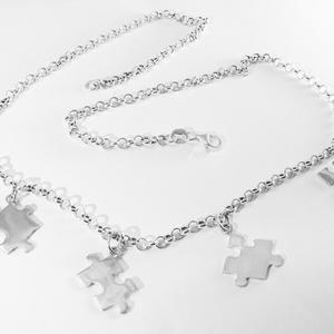 Puzzle, kirakó nyaklánc, Medálos nyaklánc, Nyaklánc, Ékszer, Ékszerkészítés, Ötvös, Nagyon szeretek kirakózni, így készítettem pár puzzle ékszert 925-ös ezüstből. \nA boltomban megtalál..., Meska