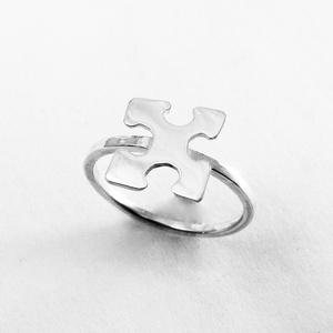 Puzzle, kirakó gyűrű I., Figurális gyűrű, Gyűrű, Ékszer, Ékszerkészítés, Ötvös, Nagyon szeretek kirakózni, így készítettem pár puzzle ékszert 925-ös ezüstből. \nA boltomban megtalál..., Meska