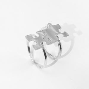Puzzle, kirakó páros gyűrű, Ékszer, Nyaklánc, Ékszerkészítés, Ötvös, Nagyon szeretek kirakózni, így készítettem pár puzzle ékszert 925-ös ezüstből. \nA boltomban megtalál..., Meska