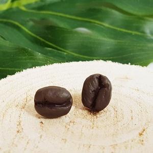 MininiLand kávé fülbevaló, Ékszer, Fülbevaló, Pötty fülbevaló, Gyurma, Ékszerkészítés, Ez a Kávé fülbevaló tökéletes ajándék lehet egy kávé függőnek, vagy valakinek, aki szereti különlege..., Meska
