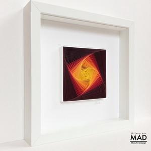 """Életspirál - a naplemente színeiben - modern 3D falikép, modern lakáskiegészítő. minimalista stílusban., Lakberendezés, Otthon & lakás, Falikép, Dekoráció, Papírművészet, Szobrászat, Életspirál. - \""""naplemente\"""" .\nPapírcsíkból készített (papírcsíkkal rajzolt ) falikép modern, spirálge..., Meska"""