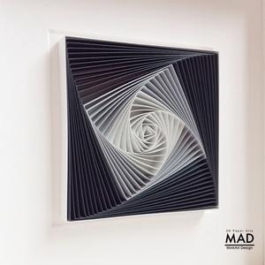 Életspirál - szürke -  egyedi és modern 3D falikép, minimalista stílusban.  - Meska.hu