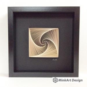 Spiral and Geometry, modern, minimal stílusú, 3D, egyedi quilling kép. - otthon & lakás - dekoráció - falra akasztható dekor - Meska.hu
