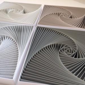 Kő, homok, kincs -3db-os falikép szett,  egyedi modern, 3D spirálgeometrikus mintával, Férfiaknak, Legénylakás, Otthon & lakás, Dekoráció, Kép, Lakberendezés, Falikép, Papírművészet, Spiral & Geometry sorozat\n3db-os falikép szett, nagyon finom, harmonikus árnyalatokban.\n \nFiatalos é..., Meska