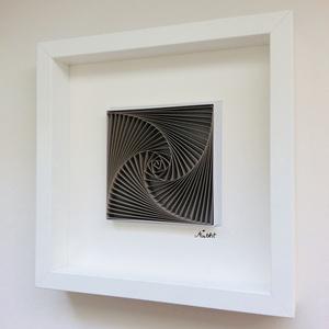 """""""Kávé"""" vizuálisan - egyedi modern, 3D spirálgeometrikus mintával, Esküvő, Nászajándék, Papírművészet, Spiral & Geometry sorozat:\nA kávé szerelmeseinek\n3db-os falikép szett, a kávézáshoz kötődő harmoniku..., Meska"""