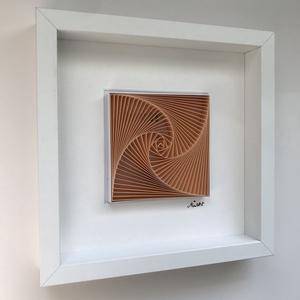 """Életspirál, névvel - Jázmin -  barack színű, egyedi és modern 3D falikép, minimalista stílusban. , Otthon & lakás, Gyerek & játék, Gyerekszoba, Baba falikép, Papírművészet, Fotó, grafika, rajz, illusztráció, \""""Jázmin\"""" - barack színű egyedi 3D modern falikép.\n\nÉletspirál - a névre szóló lakberendezési kiegész..., Meska"""