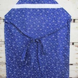 Kékfestő kislány kötény, Konyhafelszerelés, Otthon & lakás, Kötény, Varrás, Kékfestő kötény konyhában szorgoskodó kislányoknak, madeirával díszítve. Mérete 40x57 cm., Meska