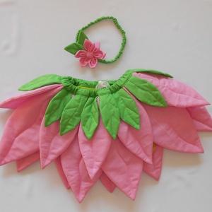 Virág jelmez - Rózsaszín, Ruha & Divat, Jelmez & Álarc, Jelmez, Varrás, Patchwork, foltvarrás, Egyedi jelmez ifjú hölgyeknek a farsangi bálra :)\n\n4-6 éves lányka mérete.\nA szoknya derékbősége áll..., Meska