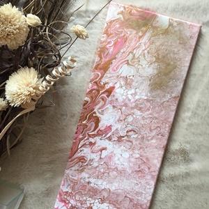 Pretty pastell pink fluid art akril festmény, Művészet, Festmény, Akril, Festészet, Pasztell rózsaszín, fluid art akril festmény, igazi absztrakt. \nTökéletesen feldob minden nappalit, ..., Meska