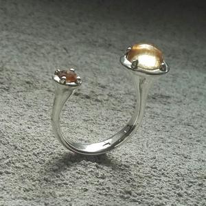 KőKétArca Gyűrű - Citrin, Ékszer, Gyűrű, Többköves gyűrű, Ékszerkészítés, Ötvös, Meska