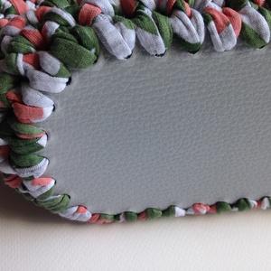 Horgolt mintás táska zöld és lazac színben (missbkiss) - Meska.hu
