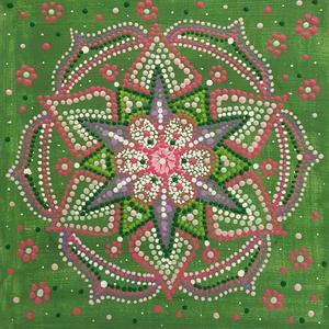 A szeretet mindent meggyógyít mandala, Otthon & Lakás, Mandala, Dekoráció, Festett tárgyak, Festészet, Meska