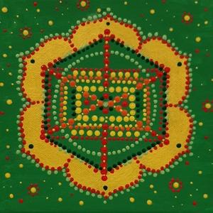 A szívedben megbízhatsz, a szemedben nem mindig mandala, Otthon & Lakás, Dekoráció, Mandala, Festett tárgyak, Festészet, Meska