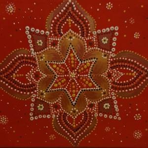 Hidd el, hogy megérdemled! mandala, Otthon & Lakás, Dekoráció, Mandala, Festett tárgyak, Festészet, Meska