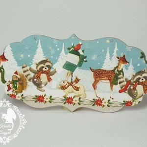 Karácsonyi üdvözlőtáblák, Karácsonyi dekoráció, Karácsony & Mikulás, Otthon & Lakás, Decoupage, transzfer és szalvétatechnika, Üdvözlőtáblák karácsonyra\n\nKülönböző, bájos mintákkal\n\nKöszönöm, hogy benéztél! :), Meska