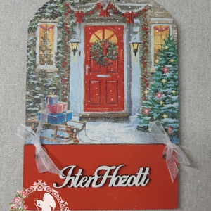 Téli mintás üdvözlőtáblák, Karácsonyi kopogtató, Karácsony & Mikulás, Otthon & Lakás, Decoupage, transzfer és szalvétatechnika, Üdvözlőtáblák télre\n\nKülönböző, bájos mintákkal\n\nKöszönöm, hogy benéztél! :), Meska