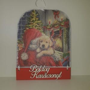 Karácsonyi mintás üdvözlőtábla, Karácsonyi képeslap, Karácsony & Mikulás, Otthon & Lakás, Decoupage, transzfer és szalvétatechnika, Üdvözlőtábla karácsonyra\n\n4 féle mintával\n\nKöszönöm, hogy benéztél! :) , Meska