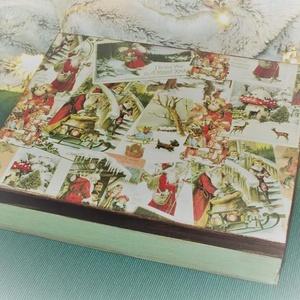 Karácsonyi dobozok, Karácsony & Mikulás, Karácsonyi dekoráció, Decoupage, transzfer és szalvétatechnika, Karácsonyi dobozok 3 féle mintával\n\nMágneses zárral\nMérete kb. A/4\n\nKöszönöm, hogy benéztél! :)..., Meska