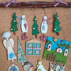 Lakás dekoráció csomag II., Otthon & Lakás, Karácsony & Mikulás, Karácsonyi dekoráció, Festészet, Lakás dekoráció csomag\nEgyedi, festett fadekorációk melyeket használhattok lakás dekorként, karácson..., Meska