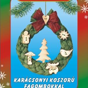 Karácsonyi koszorú fagombokkal egységcsomag, DIY (Csináld magad), Egységcsomag, Mindenmás, Karácsonyi koszorú fagombokkal  készítése \nA színpompás, könnyen vágható, ragasztható papírszalagok ..., Meska