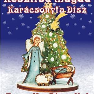 Angyalka jászollal - karácsonyfadísz egységcsomag, DIY (Csináld magad), Egységcsomag, Mindenmás, Angyalka jászollal- Karácsonyfadísz egységcsomag, mely könnyen összeállítható, kiszínezhető, kifesth..., Meska