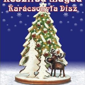 Szarvas fenyőkkel-karácsonyfa dísz egységcsomag, DIY (Csináld magad), Egységcsomag, Mindenmás, Szarvas fenyőkkel- Karácsonyfadísz egységcsomag, mely könnyen összeállítható, kiszínezhető, kifesthe..., Meska