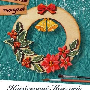 Karácsonyi koszorú - egységcsomag, DIY (Csináld magad), Egységcsomag, Mindenmás, Karácsonyfadísz egységcsomag, mely könnyen összeállítható, kiszínezhető, kifesthető natúr fa alkatré..., Meska