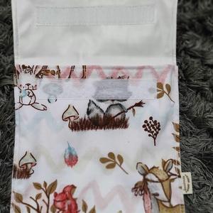 erdei állatok mintás szett,  újraszalvéta,textilszalvéta tízórai,uzsonna csomagolására+uzsonnatasak - otthon & lakás - konyhafelszerelés - szalvéta - Meska.hu