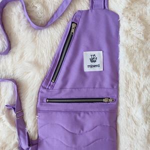 Testtáska - Világos lila - nagyobbik, Táska & Tok, Vállon átvethető táska, Kézitáska & válltáska, Varrás, Meska