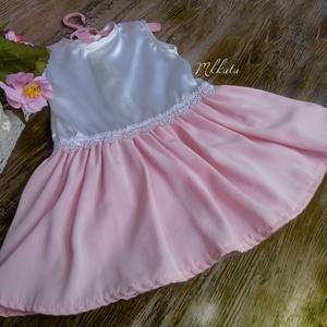 Alkalmi ,keresztelő kislány ruha 74- es méret , Táska, Divat & Szépség, Gyerekruha, Ruha, divat, Baba (0-1év), Varrás,   Alkalmi-   keresztelő kislány ruha\nFelső része  szatén  \nszoknya rész tüll- muszlin \nDerék része c..., Meska