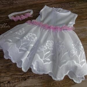 Alkalmi , keresztelő kislány ruha + fejpánt   74- es   méret  (Mkkata) - Meska.hu