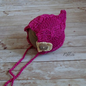 Kötött baba sapka 0-2 hónapos méret  - ruha & divat - babaruha & gyerekruha - babasapka - Meska.hu