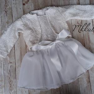 Alkalmi ,keresztelő kislány ruha + boleró  több méretben  (Mkkata) - Meska.hu