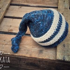 Kötött újszülött baba sapka 0-3 hónapos méret  - ruha & divat - babaruha & gyerekruha - babasapka - Meska.hu