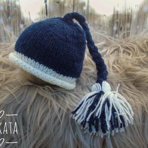 Kötött újszülött baba sapka 0-2 hónapos méret  - ruha & divat - babaruha & gyerekruha - babasapka - Meska.hu
