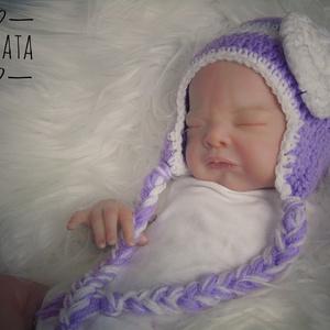 Horgolt újszülött ,  baba sapka 1-3 hó - Meska.hu