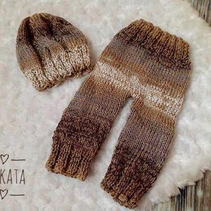 Újszülött  kötött szett 0-2 hó  (Mkkata) - Meska.hu
