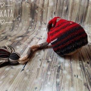 Újszülött  kötött sapka 0-3 hó , Ruha & Divat, Babaruha & Gyerekruha, Babafotózási ruha és kellék, Kötés, Meska