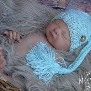 Kötött baba sapka  0-3 hónapos méret , Ruha & Divat, Babaruha & Gyerekruha, Babafotózási ruha és kellék, Kötés, Meska