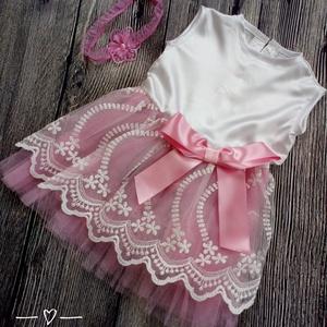 Alkalmi ,keresztelő kislány ruha 74-es méret , Táska, Divat & Szépség, Gyerekruha, Ruha, divat, Baba (0-1év), Varrás,   Alkalmi-   keresztelő kislány ruha+fejpánt szett \n\nszoknya rész tüll és csipke \n \n Mérete :74-es\n ..., Meska