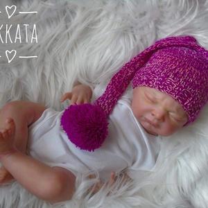 Kötött baba sapka 0-2 hónapos méret  (Mkkata) - Meska.hu