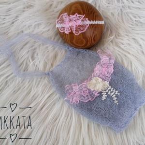 Kötött újszülött szett 0-2 hónapos méret , Ruha & Divat, Body, Babaruha & Gyerekruha, Kötés, Meska