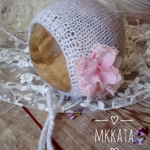 Kötött újszülött baba sapka 0-2 hónapos méret , Ruha & Divat, Babasapka, Babaruha & Gyerekruha, Kötés, Meska