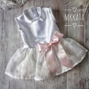 Alkalmi ,keresztelő kislány ruha 56-os méret , Keresztelő ruha, Babaruha & Gyerekruha, Ruha & Divat, Varrás, Alkalmi-   keresztelő kislány ruha\n Mérete :56-os \nMellbősége :42 cm\nTeljes hossza :34 cm\nA szoknya ..., Meska